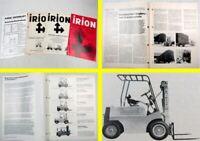 4 Prospekte Irion Gabelstapler DFG DFQ ESY EFYEGV EGU EGUS EGG 1970er