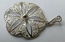 Anhänger filigrane Arbeit 835 Silber Vintage 70er pendant silver