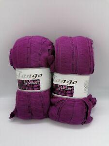 Set of 2 x 100g Balls Tango Scarf Yarn Purple Shade 04