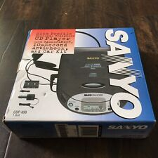 Sanyo Cdp-650 Portable Cd Player Discman BassXpander With Box Tested
