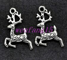 Charms pendant Tibetan silver Small deer diy bracelet necklace 15/50/300pcs