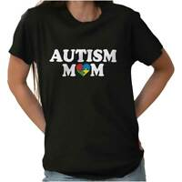 Autism Mom Awareness Proud Mother Autistic T-Shirts T Shirts Tees For Womens