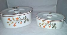 2 Ironstone Ware Covered Casserole Dish Occupied Japan Honeysuckle Wheat Pattern