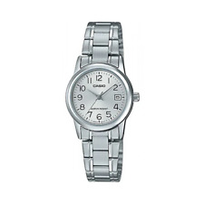Casio LTP-V002D-7BUDF Silver Stainless Steel Strap Watch for Women