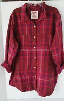 Mossimo Women's Burgundy Plaid Flannel Assorted Sizes NWT Free Shipping
