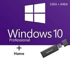Microsoft Windows 10 Professional & Home - 32 & 64 Bit -  auf USB Stick 8GB Neu
