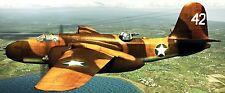 A-20 Havoc Douglas USA Bomber Airplane Mahogany Kiln Dry Wood Model Small