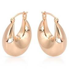 Attractive Hoop Earrings Made in14K/925 Rose Gold plated Silver