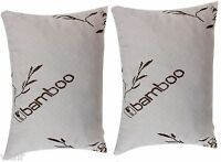 Set of King Shredded Memory Foam Pillow,100% Washable,Bamboo Polyester Cover,NEW
