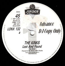 """The Kinks - Lost And Found Very Rare UK 12"""" inch Promo 1987 with Interview"""
