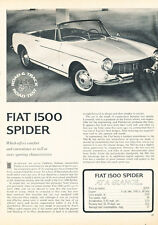 1965 Fiat 1500 Spider - Road Test - Classic Article D132