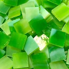 """1/2"""" Green Stained Glass Mosaic Tiles (100 Pieces)"""