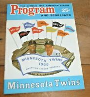 1966 MINNESOTA TWINS PROGRAM VS. NY YANKEES  LINEUP FILLED IN ALL THE STARS