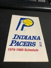 1979-80 Indiana Pacers Basketball Pocket Schedule Marathon Oil Version