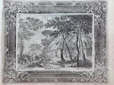 villaggio lago SNAIRS  acquaforte XVIII sec A JOSEPH PRENNER AUSTRIA