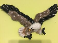 "Big Simulation Eagle Toy Polyethylene & Furs Wings Eagle 22 1/2"" Inches Long"