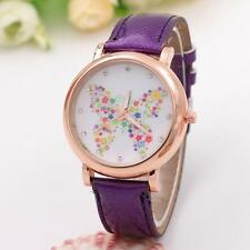 Fashion Women's Butterfly Shoes Leather Band Analog Quartz Wrist Watch Gift Hot