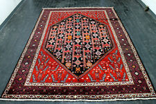 10X7 Masterpiece Mint Hand Knotted Rare Vegetable Dye Malayerr Oriental Wool Rug