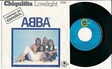 "ABBA 45 TOURS 7"" SPAIN CHIQUITITA CANTADO EN ESPANOL"