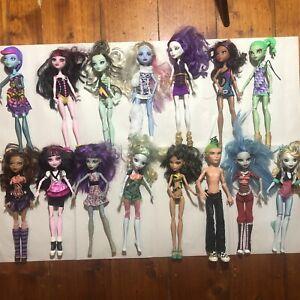 Monster High Bulk Lot Of 15 Dolls