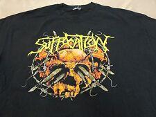 "RARE Suffocation ""Surgery of Impalement"" Relapse Records Blue Grape  XL -2XL"