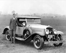 Photograph of Charles Lindbergh &  LaSalle Car in Missouri  Year 1927 8x10