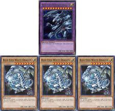 YuGiOh 1st Edition BLUE-EYES ULTIMATE DRAGON + WHITE DRAGON 4-Card GEM MINT Set!