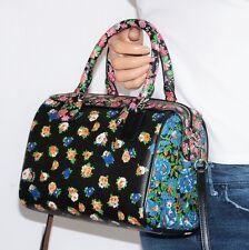 NWT Coach Bennett Floral Mix Print Black Leather Mini Satchel Xbody Bag 57626