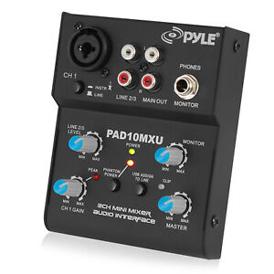 Pyle PAD10MXU 2-Channel 18V Power Compact Audio Mixer Controller Interference