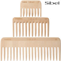 Sibel Bamboo Afro Comb Lightweight and Antistatic For Professional Hairdressers