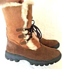 CLOUD NINE Rosalita Sheepskin Boots Chestnut CNS-131 Women's SIZE 9