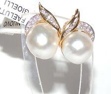ORECCHINI ORO DIAMANTI PERLE  gold diamond earrings pearls