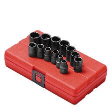 "Sunex Tools 3/8"" Drive 12 Point 13 Piece Metric Impact Socket Set 3675"