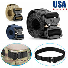Military Tactical Belt Casual Mens Army Combat Waistband Rescue Rigger Belts USA