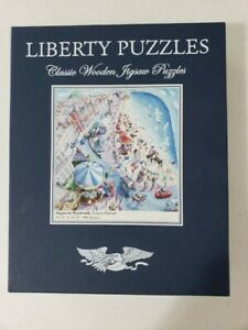 """Liberty Wooden Jigsaw Puzzle """"August in Weymouth"""" Francis Farmar 495 pieces"""