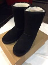 BLACK BOOTS 3 BNIB SNOWPAW Suede Faux Fur Black Boots UK 3 US 5 EU 36