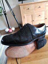 Barker Black Leather Brogues Size UK9G