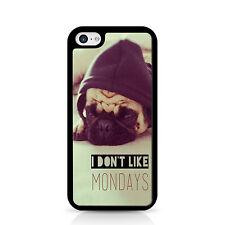 Pug Hoodie I Dont Like Mondays Black Phone Case