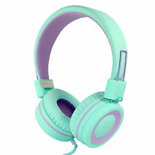 RockPapa OverEar Headphones Headsets Foldable for CellPhones MP3 PC Green Purple