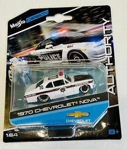 1:64 1970 Chevrolet Nova -- Police Car -- Maisto Design Authority