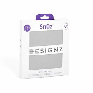 Snuz - Twin Pack Fitted Crib Sheet - Grey