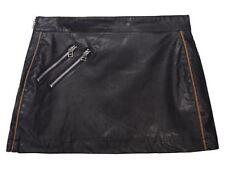 Leather Machine Washable Mini Skirts for Women