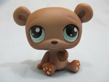 Littlest Pet Shop Teddy Bear Brown w/ Teal Eyes #1001 LPS 100% AUTHENTIC LPS