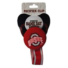 Ohio State Buckeyes Pacifier Clip [NEW] OSU NCAA Baby Infant Newborn- GD