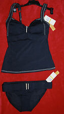 Captiva Tankini Set Black Sz S/3,4 Retail $126