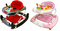 Bebe Style Deluxe 2 IN 1 F1 Racing Car Baby Walker/Rocker +Musical Activity Toy!