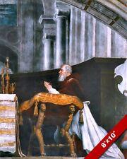 MASS AT BOLSENA ITALY CATHEDRAL PAINTING CATHOLIC ART REAL CANVAS PRINT