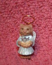Christmas Hallmark Miniature Nature's Angel w/Halo Series #4 Kitty Cat 1993