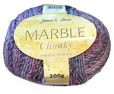 James C Brett Marble Chunky Machine Washable Wool Yarn - 200g ball