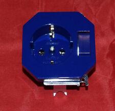 Merten SCHUKO-Steckdosen-Einsatz mit Wechselschalter, blau ,OCTOCOLOR (227)